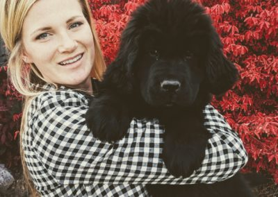 Woman with Newfie Pup